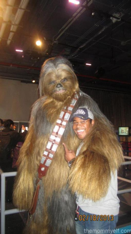 With Chewie at the Intrepid Museum Kids Week Science Day