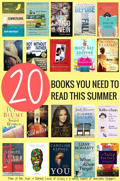 Wa-hoo! Summer is here and that means summer reading is here! Looking for the perfect beach book or captivating read to get lost in this season? We've got the list of the top 20 books that belong on your summer reading list. They all come with the reason WHY you need to snatch them up, not to mention this INCREDIBLE giveaway--11 books, a $225 Amazon giftcard...seriously, you have to check this out to believe it! Here's to fantastic books!