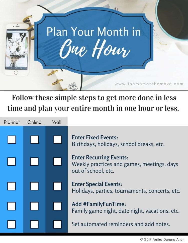 Plan Your Month Printable
