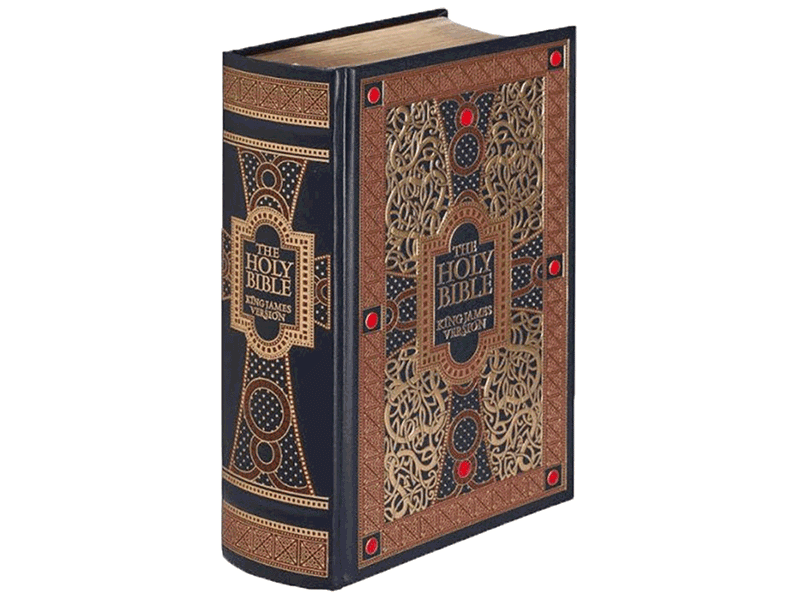 The Holy Bible KJV Leather Bound With Gold Leaf Edges