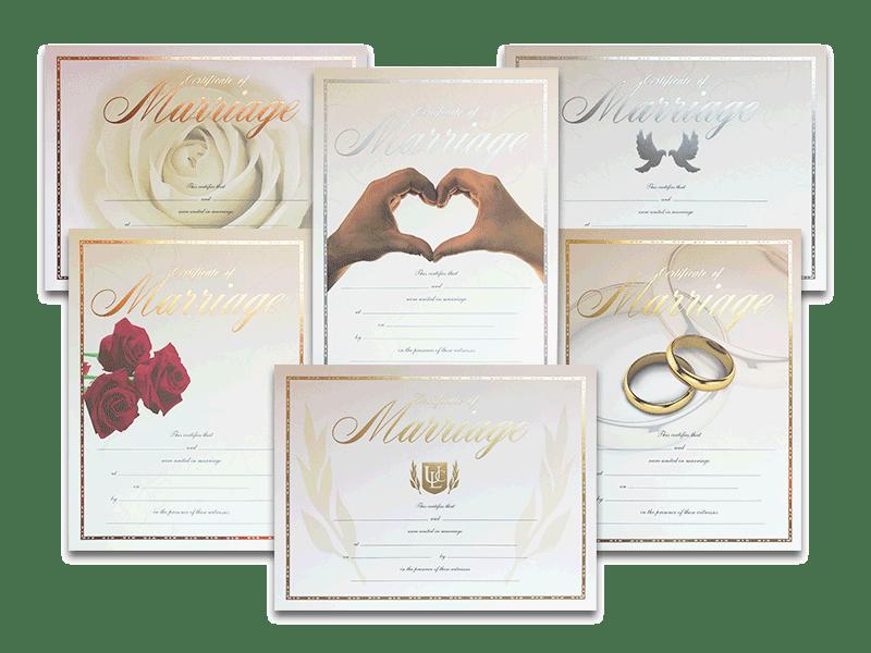 Premium Certificate Of Marriage
