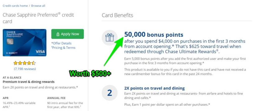 The bonus miles from credit cards can be converted to cash for residual income