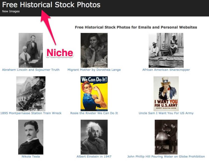 Create a niche stock photo site for extra money