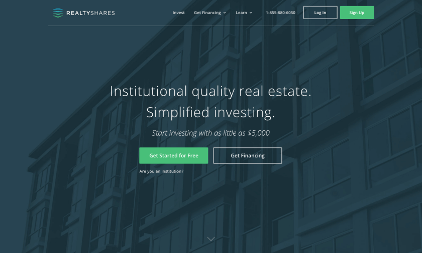 Realtyshares.com gets you residual income without the risk