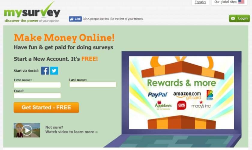 Take surveys to earn extra money