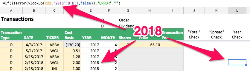 """Updating the """"ERROR"""" formula to a new year"""