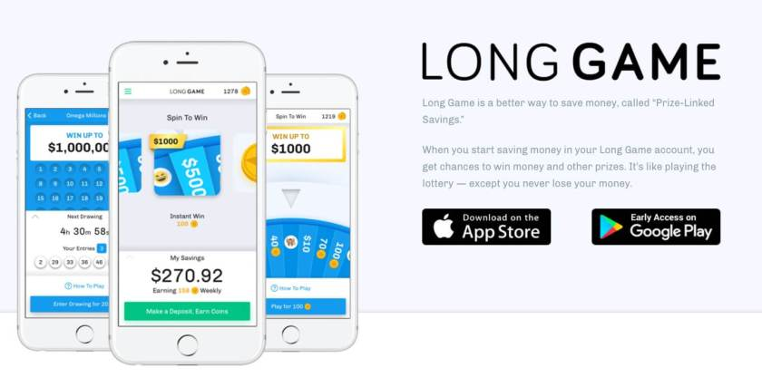Apps to make money saving money with Long Game