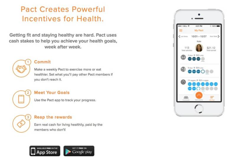 Make money working out with the Pact App