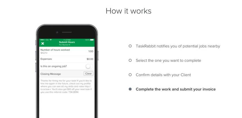 Apps to make money on the side with TaskRabbit