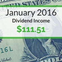 Dividend Income We Earned for January 2016