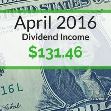 Dividend Income We Earned for April 2016