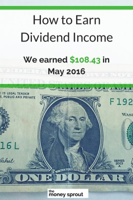 How We Earned $108.43 in Dividends in May 2016