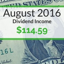 Dividend Income We Earned for August 2016