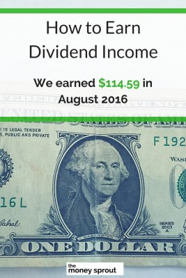 How We Earned $114.59 in Dividends in August 2016