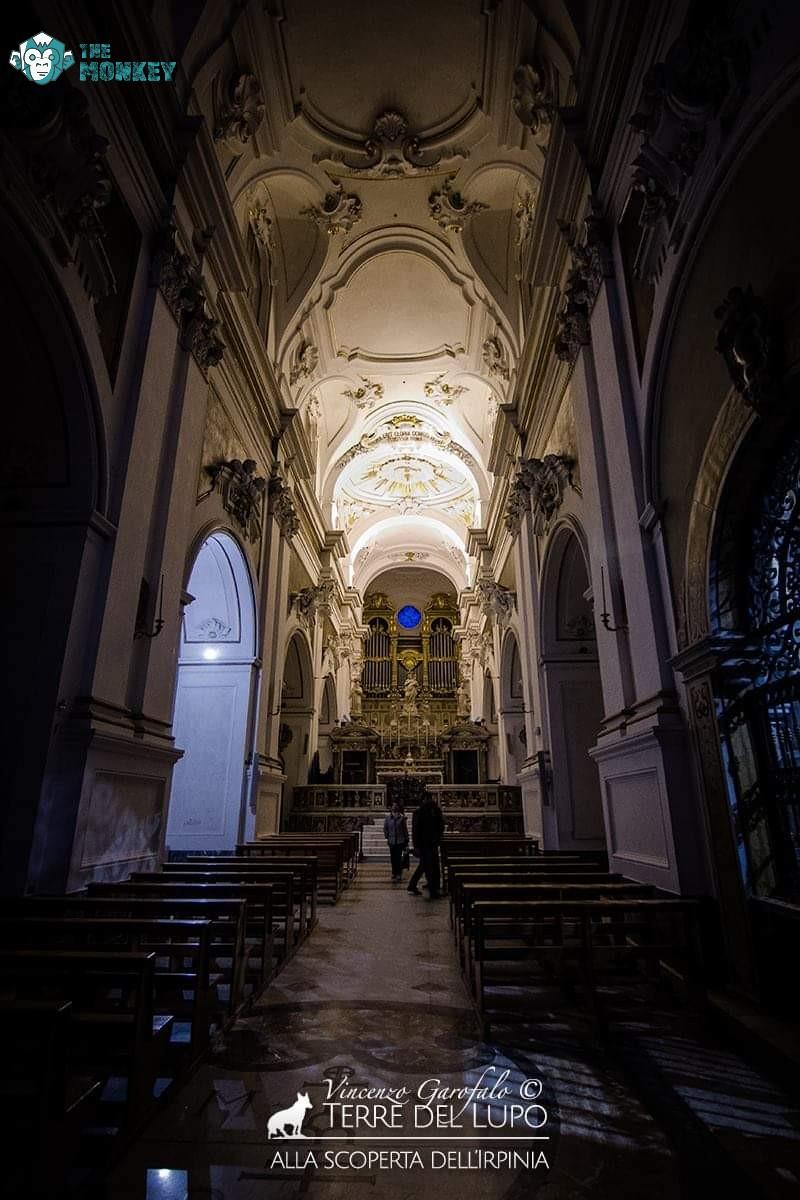 La navata dell'Abbazia di Montevergine