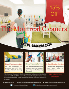 Spring Cleaning in Montreal and Laval
