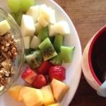 Granola tibia con manzana y canela