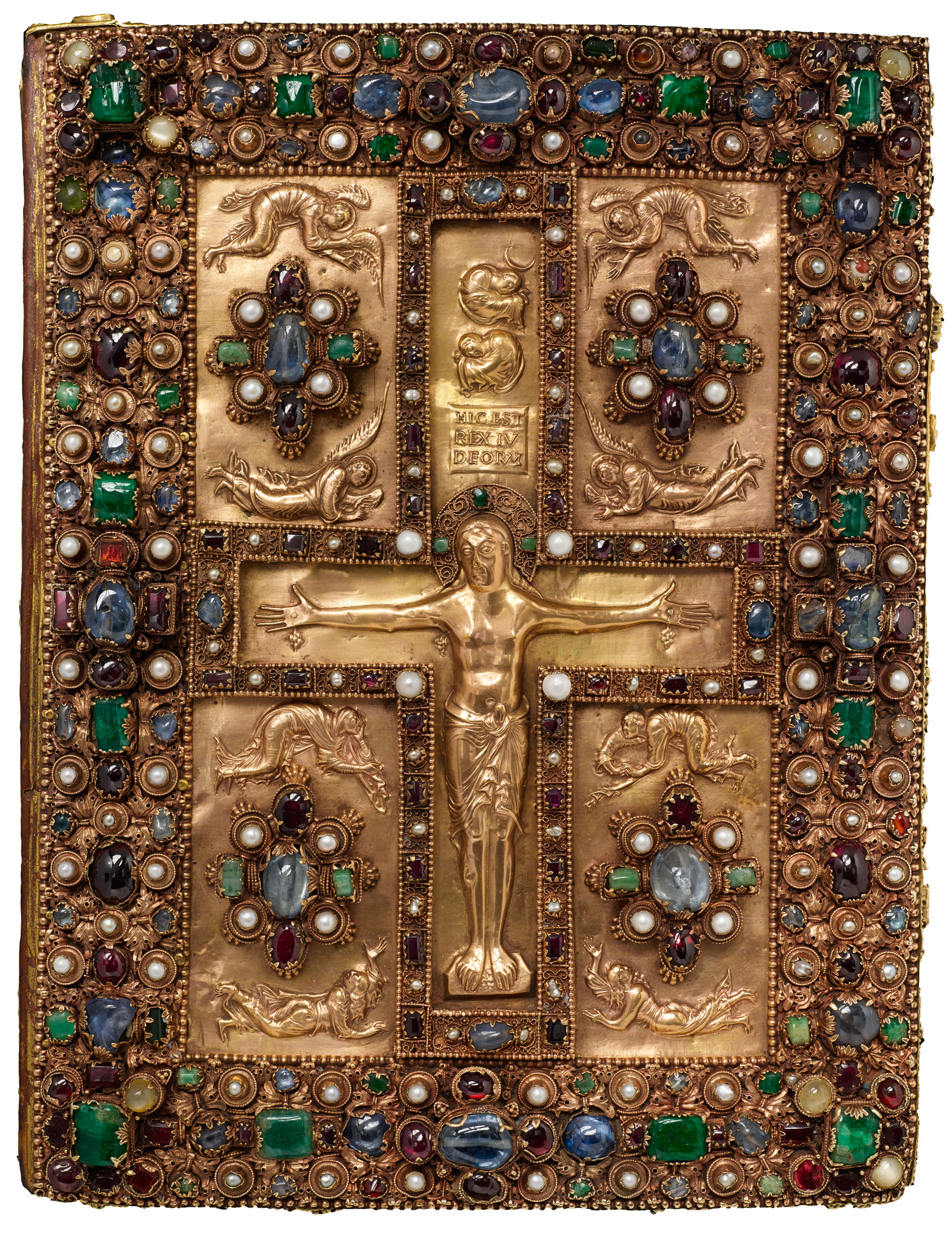 Jeweled Upper Cover Of The Lindau Gospels MS M 1 Front