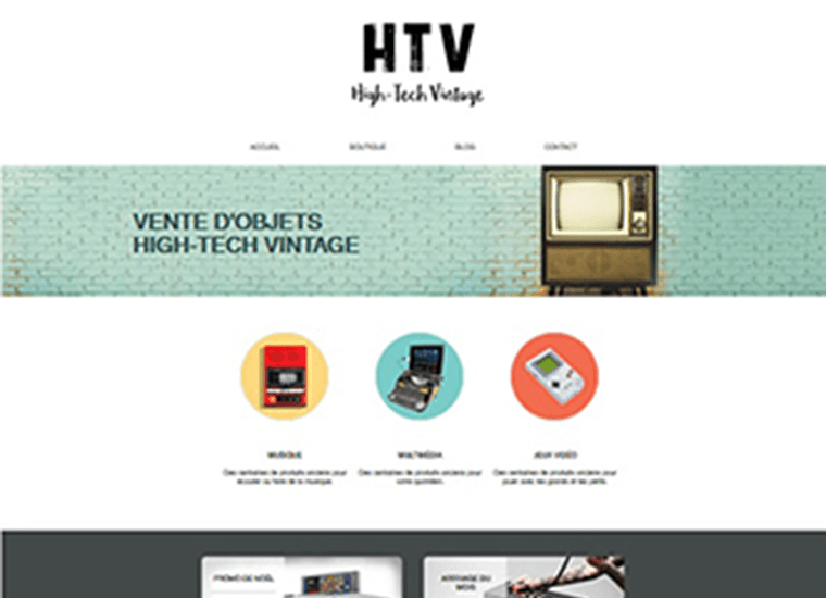 Visuel creation de site internet HTV