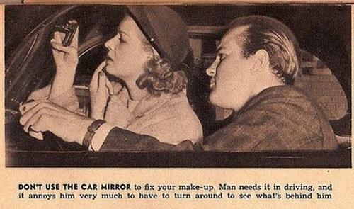 Não use o espelho do carro