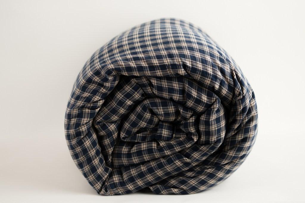 plaid sensory blanket