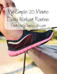 simple 20 mintute workout routine
