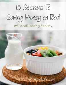 13 secrets to saving money on food