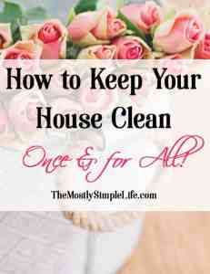 How to Keep Your House Clean Once & for All!