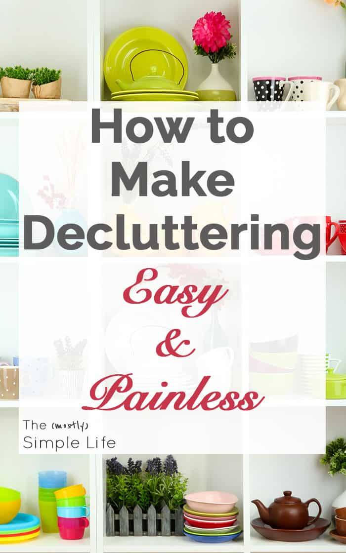 How to make decluttering easy and painless by reducing multiples | This really works and is so simple!