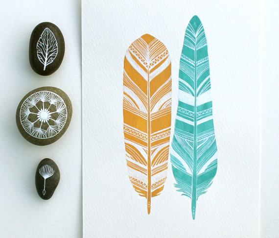 Feather Art - RiverLuna