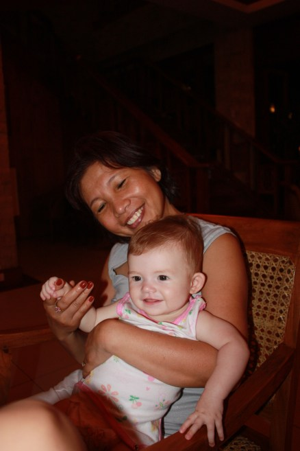 Mum and Amaya at my grandparents house, Isabel Leyte - 2009