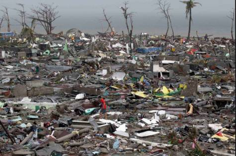 Tacloban - the worst hit City in Leyte. Totally flattened.