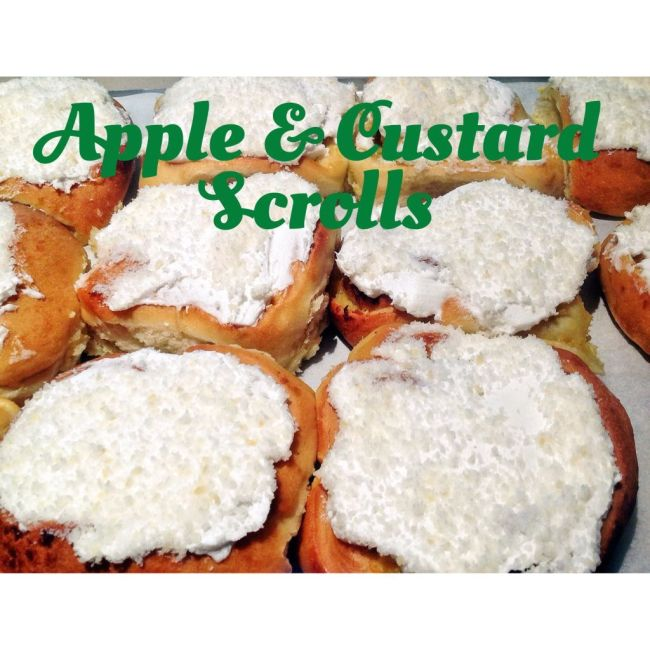 Apple and Custard Scrolls