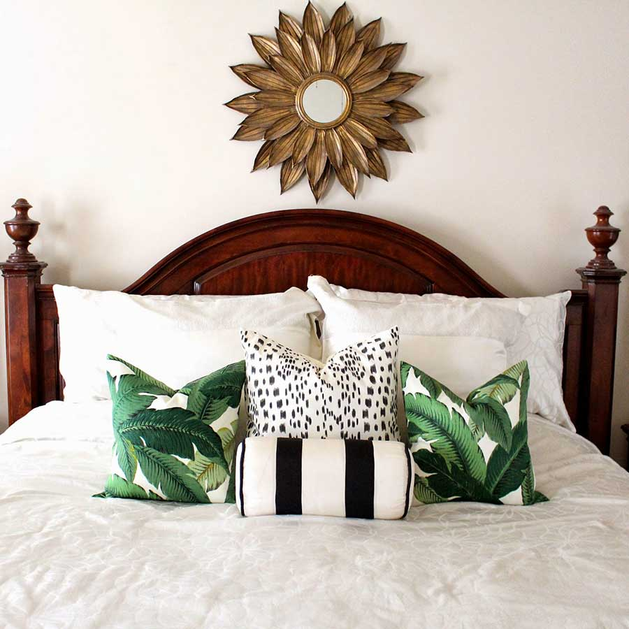 palm tree pillow inspo