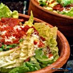 Give your Caesar salad a wow factor, by adding crispy pepperoni bits and tangy feta cheese. You'll love those tasty tidbits in the bottom of the bowl.   TheMountainKitchen.com