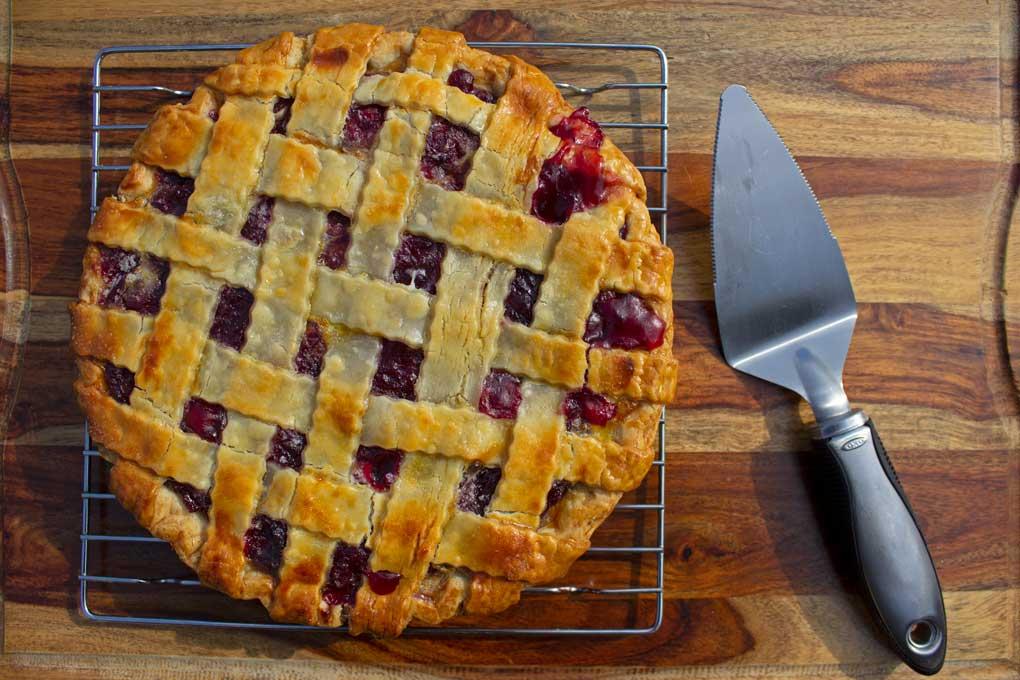 cherry pie ready to serve