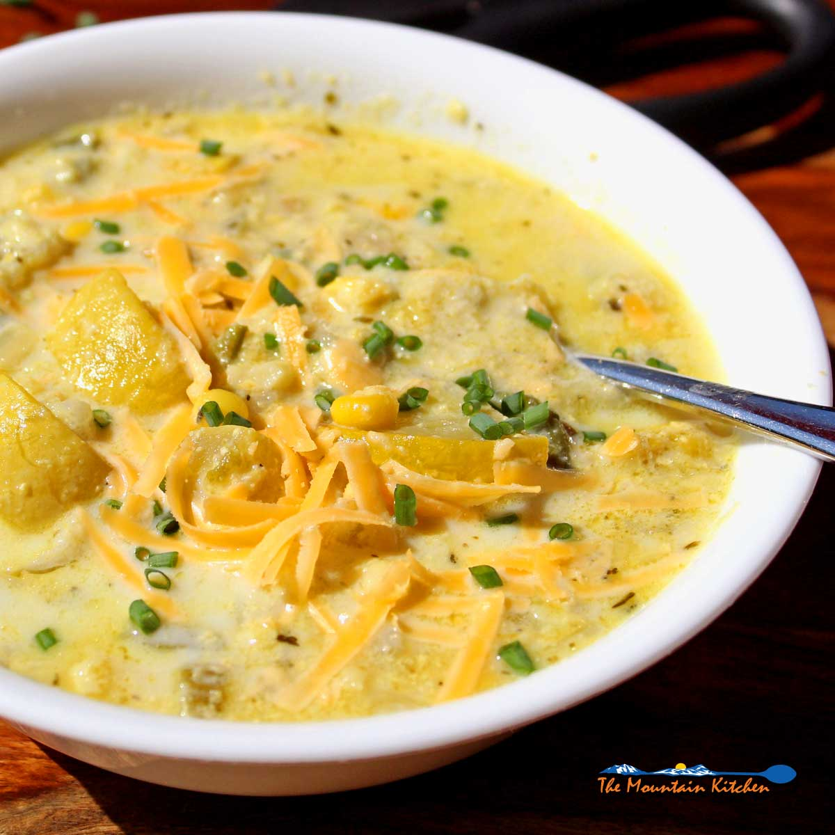 Summer Chowder With Corn and Squash {A Meatless Monday Recipe