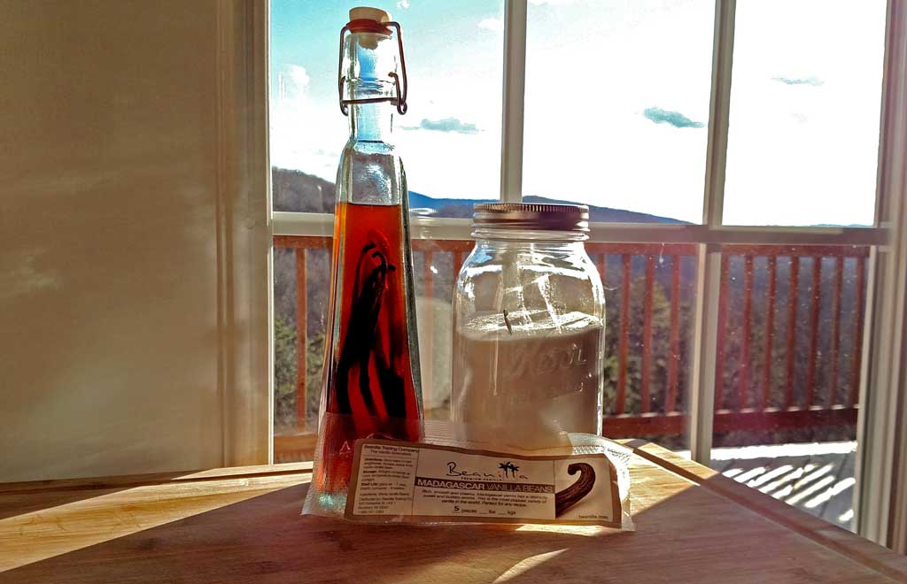 Stop wasting money on pure vanilla extract by making your own. It expires, just top the extract off with more vodka and add more vanilla beans as needed. | TheMountainKitchen.com