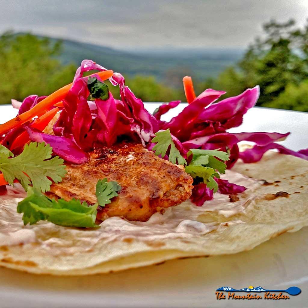 The Mountain Kitchen Fish Tacos