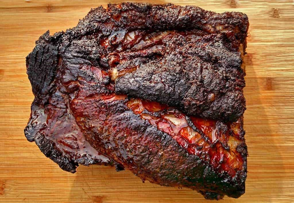 finished brisket ready to be carved
