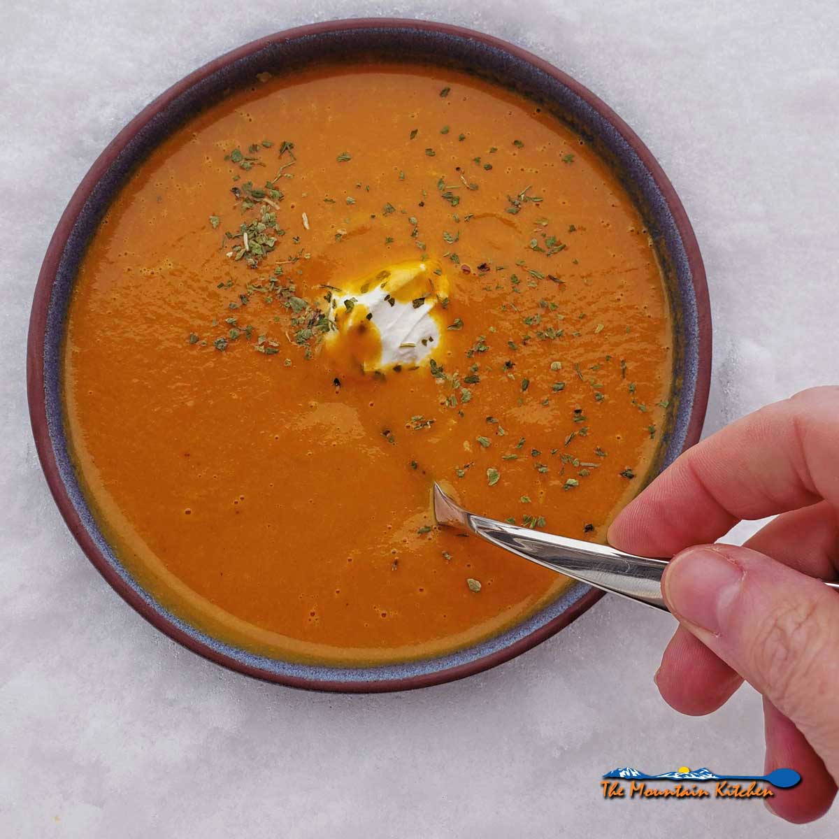 Curried Carrot-Coconut Soup {A Meatless Monday Recipe