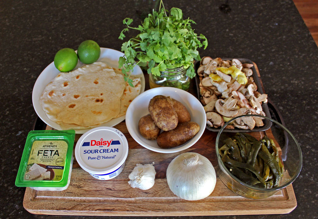 ingredients to make the tacos