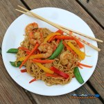 Shrimp Lo Mein on a plate