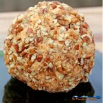 Mama's Christmas Cheese Ball is made with Velveeta, cream cheese and extra-sharp cheddar cheese, and coated in chopped pecans. It's simplicity is delicious. | TheMountainKitchen.com