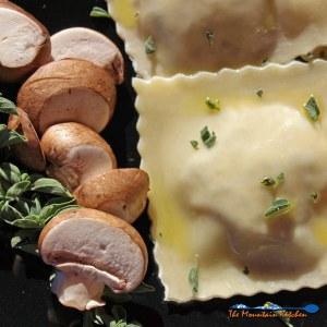 Mushroom and Sun-Dried Tomato Ravioli With Lemon Butter Sauce {Meatless Monday Recipe