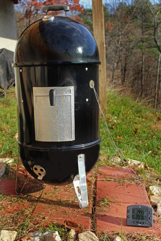 smoker with Thermoworks Smoke Thermometer