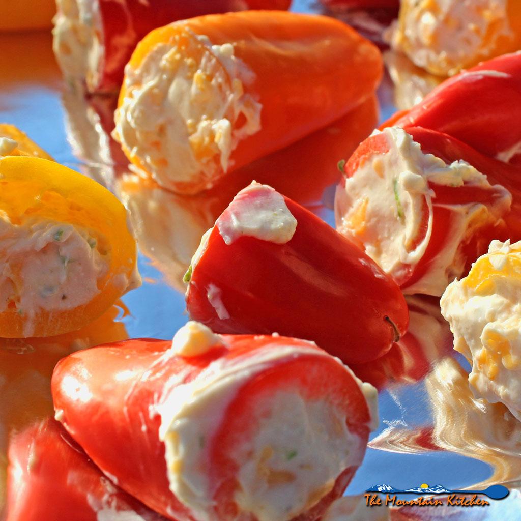 Zesty Cheese Stuffed Mini Peppers
