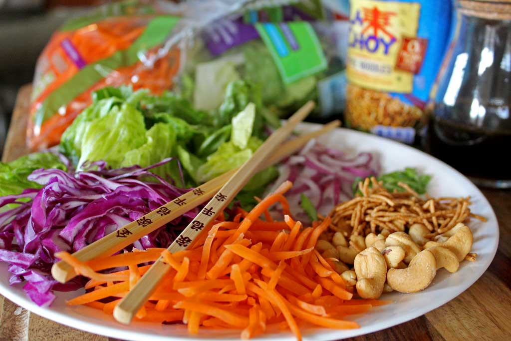 Calling all crunch lovers! This Asian Crunch Salad is a healthy, delicious, colorful salad with a rainbow crunch, drizzled with yummy honey sesame dressing.