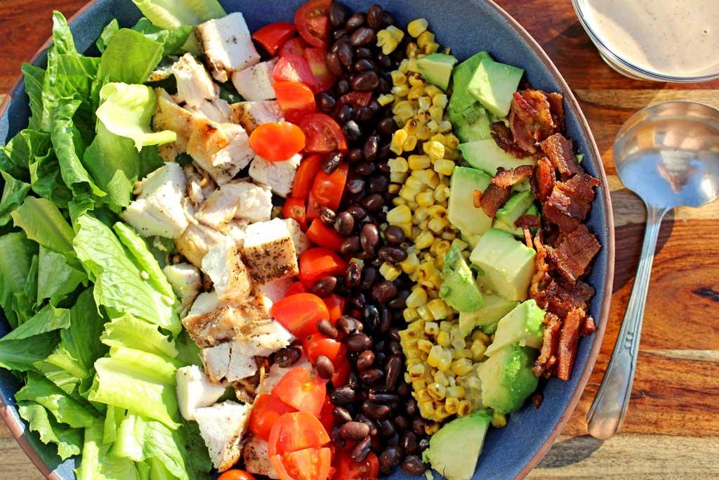 ingredients in a serving bowl