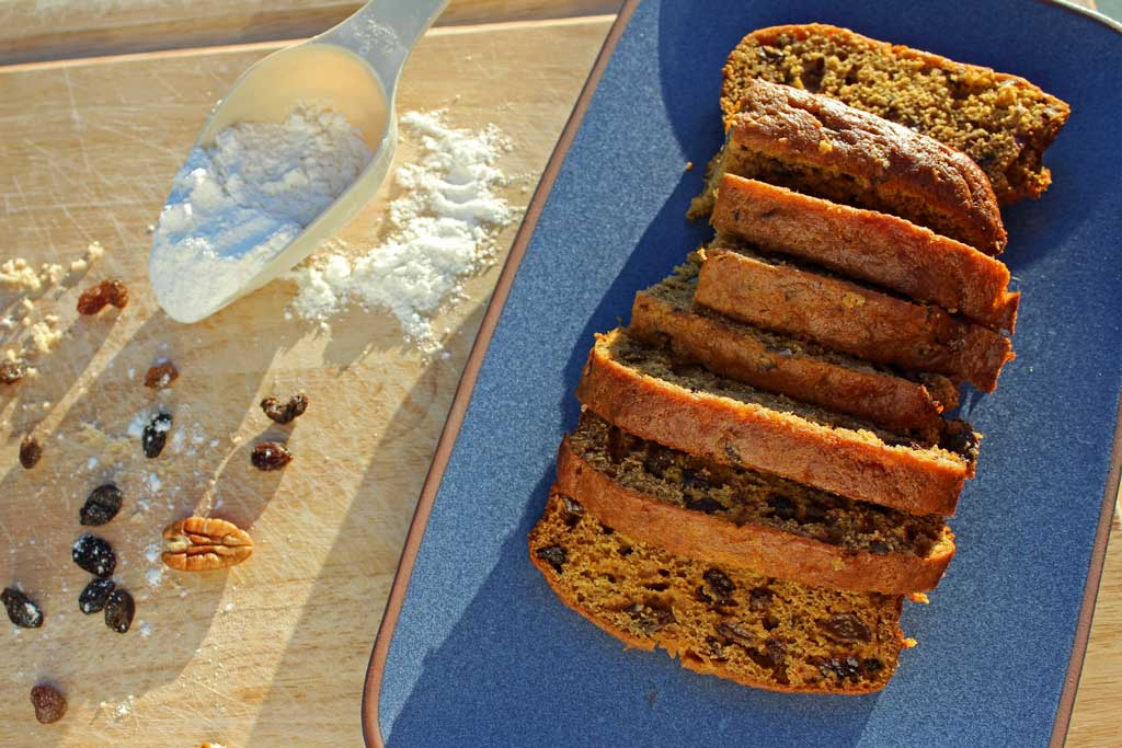 sliced pumpkin cinnamon bread